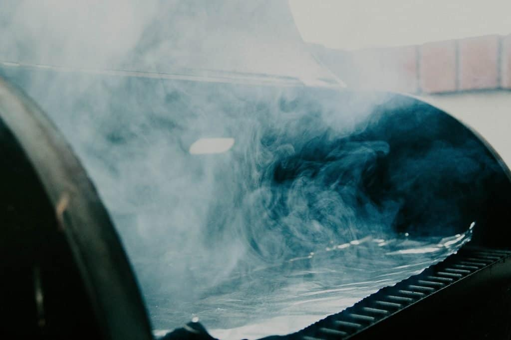 Smoker with Blue Smoke