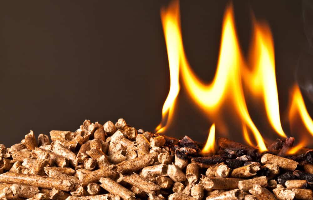 smoker wood pellets on fire