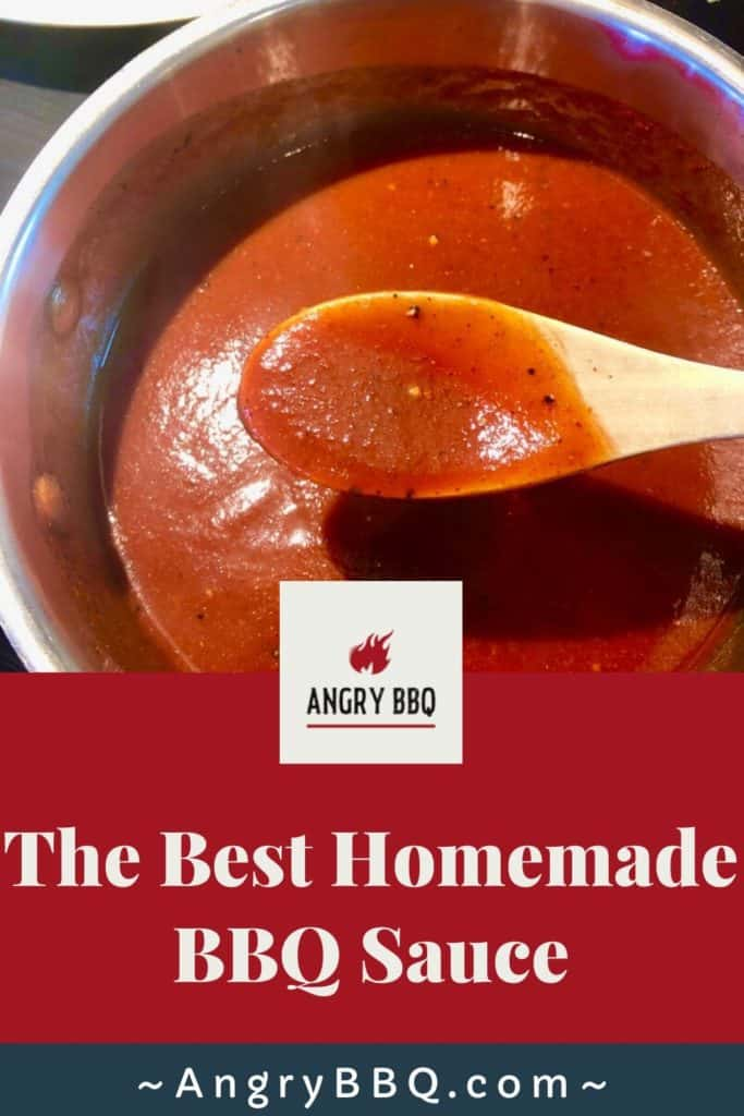 Have you ever noticed that your favorite BBQ joints always have their own homemade sauces and not store bought barbecue sauce? Did you notice how much better they taste compared to the store bought sauces?  This easy recipe can be whipped up in 25 min.  It is so universal; we enjoy it on chicken, ribs, brisket, tacos and scrambled eggs to name a few!