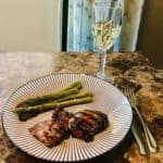 Grilled chicken and Grilled Asparagus