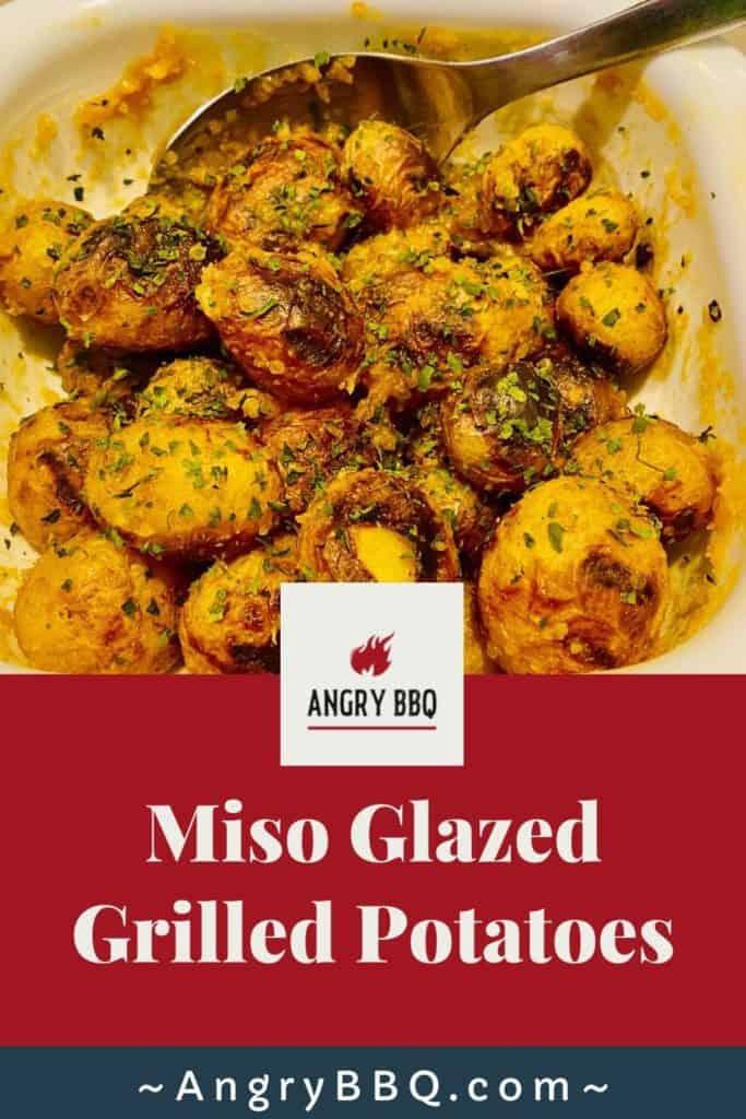 Miso Glazed Grilled Potatoes