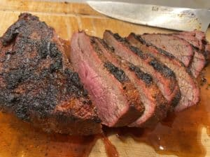 Finished and Cut Traeger Tri-Tip