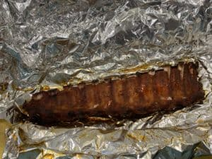 Wrapping ribs bone side up