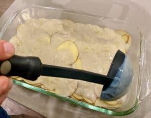 Layering potatoes