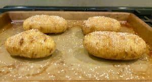 Hassleback potatoes; step 1