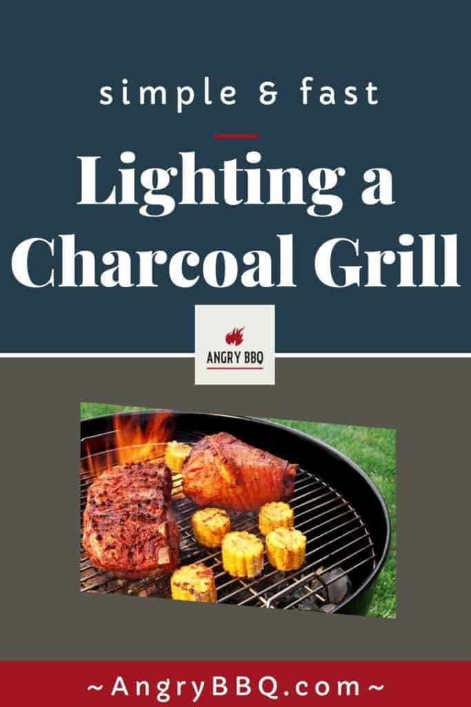 Lighting a Charcoal Grill Pin