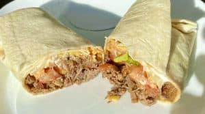 Brisket taco wrapped