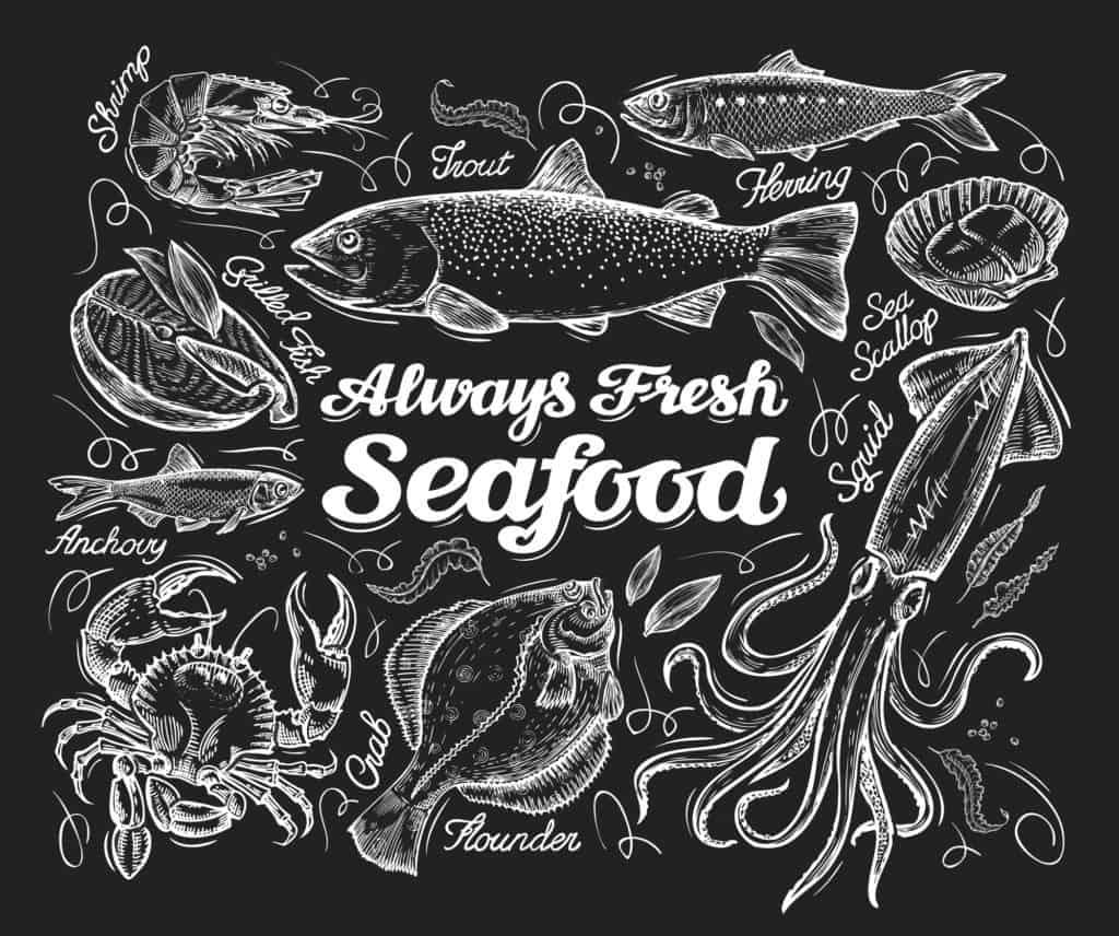 Fresh seafood logo