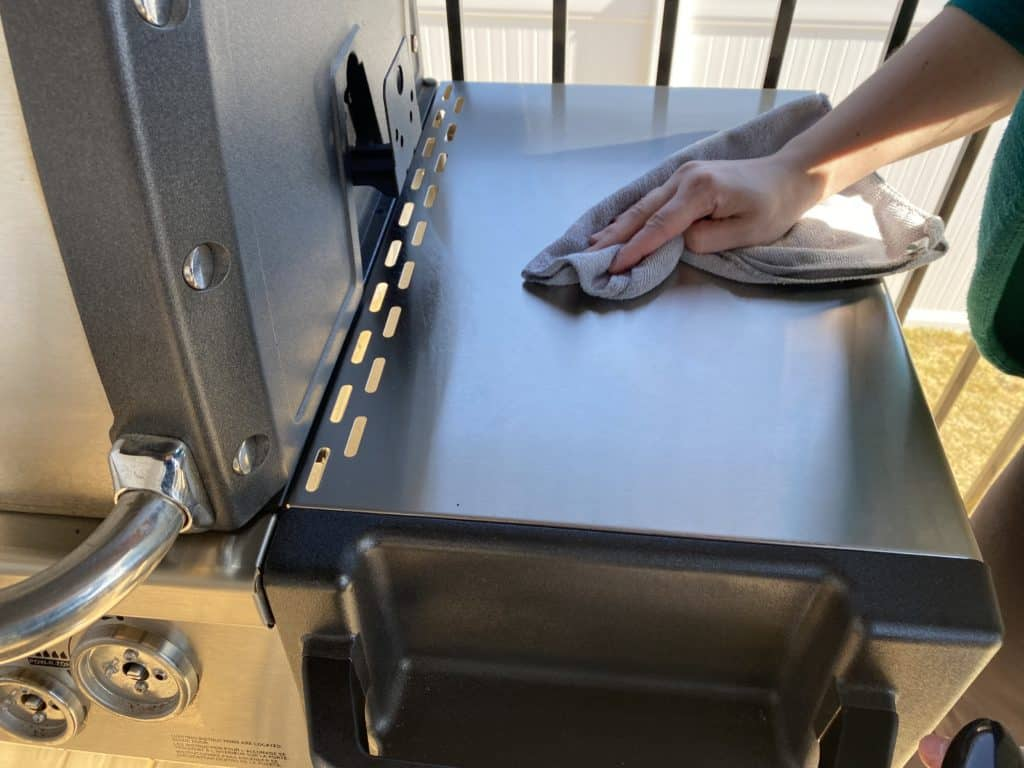 Weimans Stainless Steel cleaner on bbq