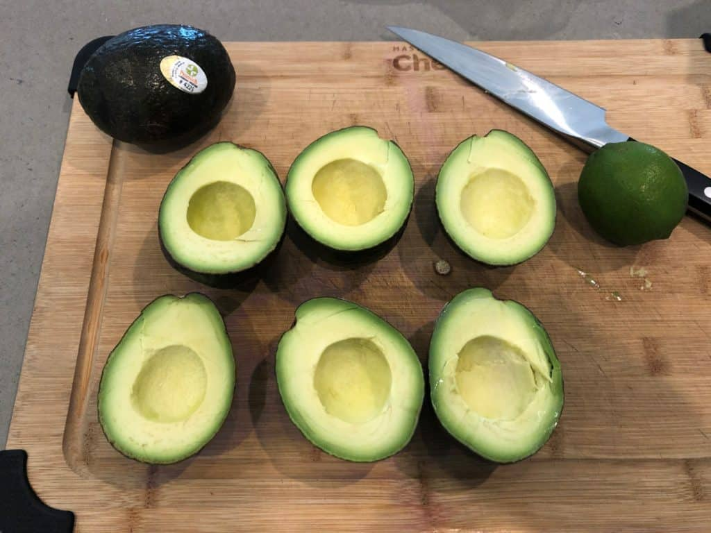 Cut Avocados