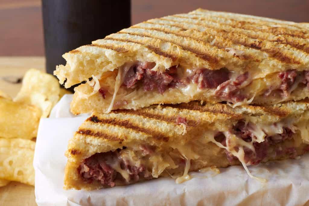 Grilled cheese brisket sandwich