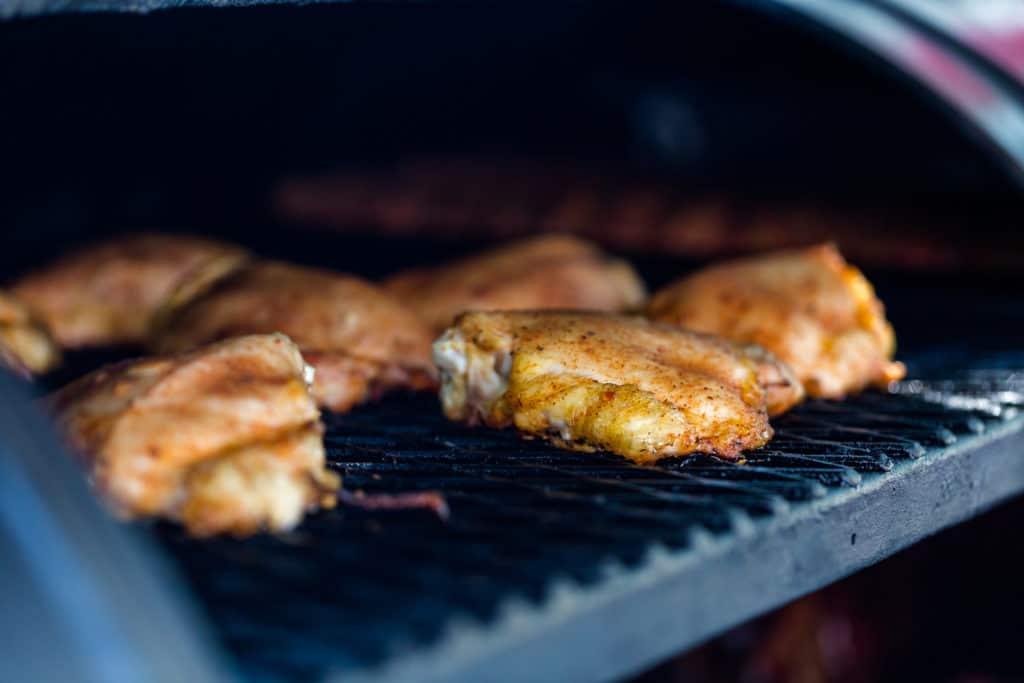 Chicken on a pellet smoker
