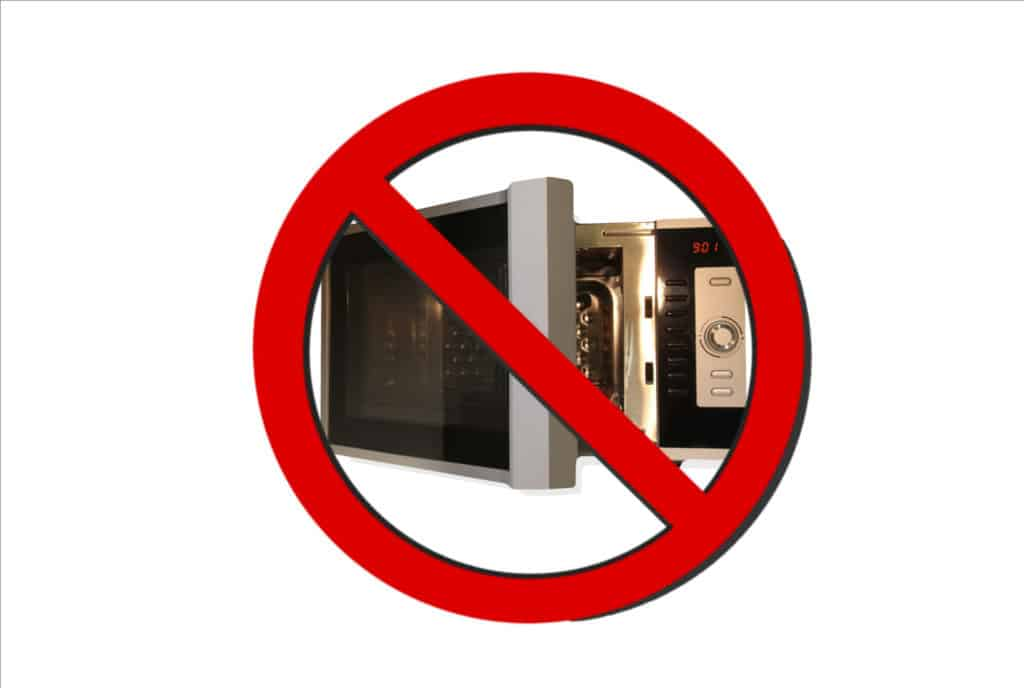No Microwave sign
