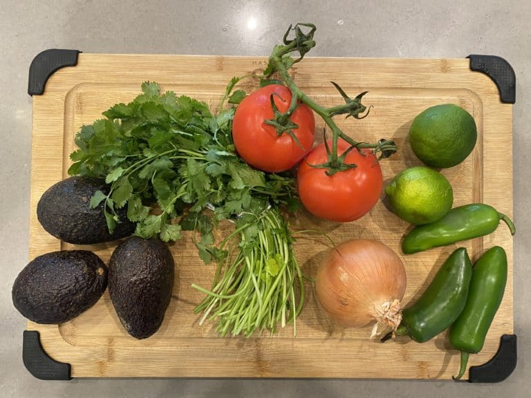 Fresh Guacamole Ingredients