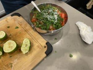 Mixing Avocado