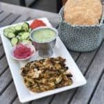 Chicken Shwarma with fresh pitas