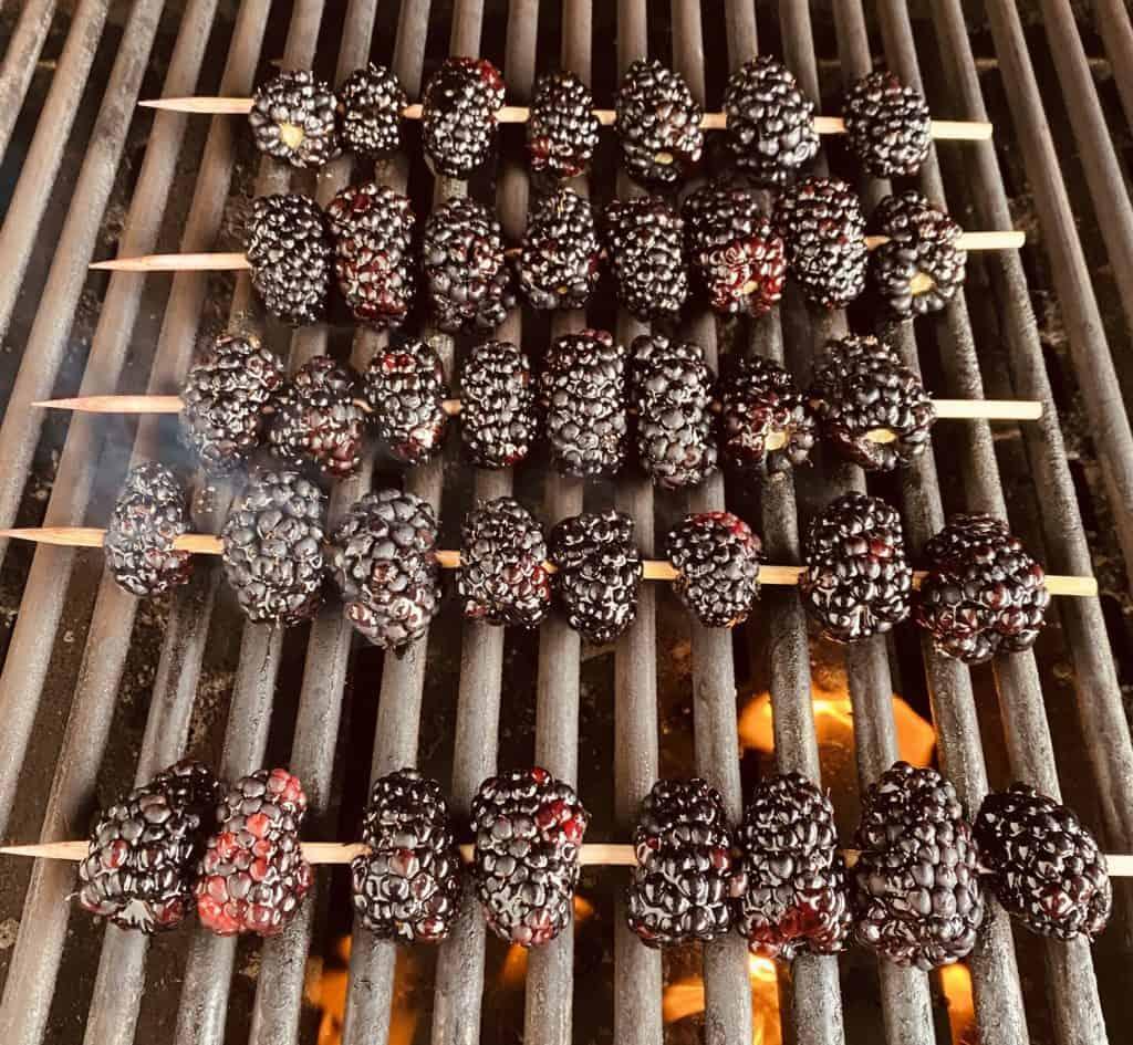 Grilling Blackberries