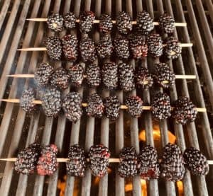 Blackberries on the grill