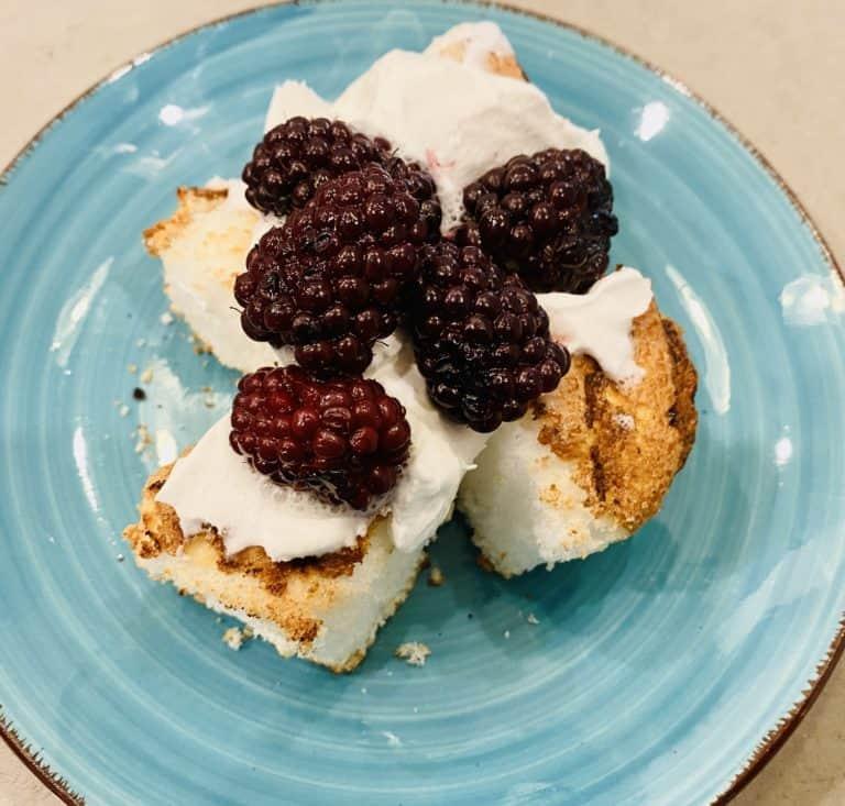 Grilled Blackberry Shortcake
