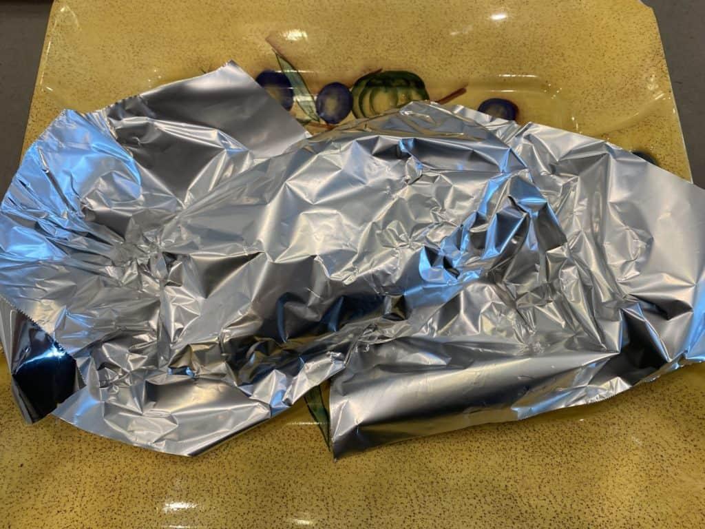 Pork Tenderloin Wrapped to Rest