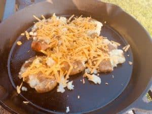 Cheesy Smashed Potatoes