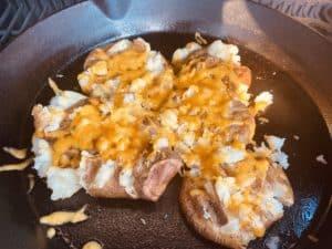 Cheesy Smashed Potato