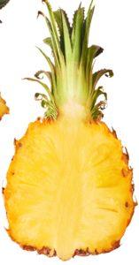 Pineapple Sliced Vertically